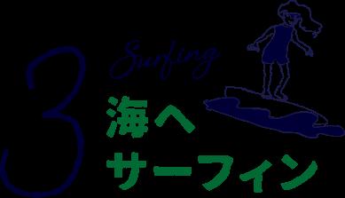 海へサーフィン
